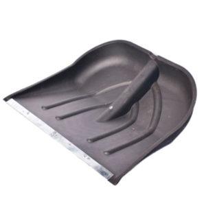 Снеговая лопата №6 пластмассовая с оц.планкой д.32