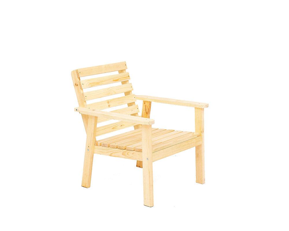 Кресло среднее деревянное