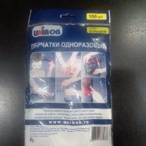 Перчатки п/э одноразовые 100 шт/упак Unibob