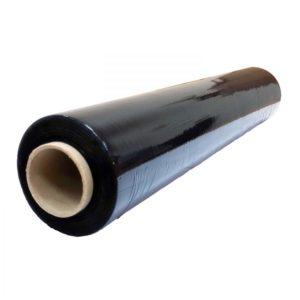Стретч вторичный черный 500 мм 20 мкн 2 кг нетто 240 м